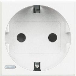 Priza Bticino HD4141W Axolute - Priza standard german, borne automate, 2P+T, 16A, 250V, 2M, alb