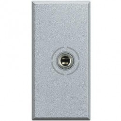 Priza Semnal Bticino HC4280 Axolute - Conector audio jack 3.5, 1M, argintiu