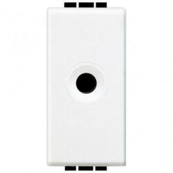 Priza semnal Bticino N4391 Living Light - Conector audio, Jack 2 contacte, 10A 48V, 1M alb