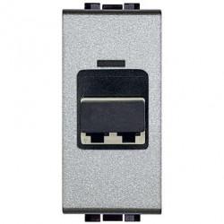 Priza Semnal Bticino NT4268LC Living Light - Conector fibra optica, 1M, argintiu
