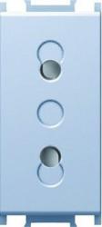 Priza Tem VM20ES-B Modul - Priza simp CP 1m argintiu