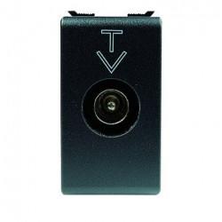 Priza Tv Gewiss GW30306 Playbus - PRIZA TV intermediara, atenuare 5dB,-tata, 9,5mm, negru