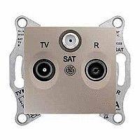 Priza TV/R/SAT Schneider SDN3501368 Sedna - Priza TV/SAT, de capat, atenuare 1dB, titan
