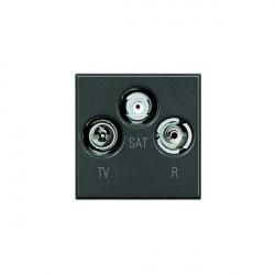 Priza TV/RD/SAT Bticino HS4210D Axolute - Priza TV-RD-SAT , 2M, negru