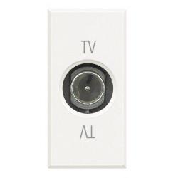 Priza TV/SAT Bticino HD4202P Axolute - Priza TV de trecere, atenuare 14dB, 1M, alb