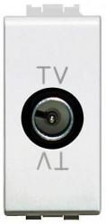Priza TV/SAT Bticino N4202P living Light - Priza TV intermediara, atenuare 14dB, 1M, alb