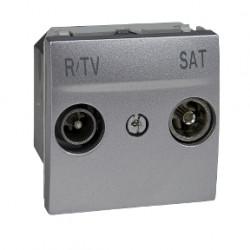 Priza TV Schneider MGU3.454.30 Unica - Priza R-TV/SAT de capat, tata, 2M, aluminiu