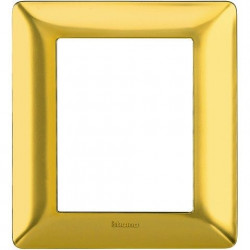 Rama Bticino AM4826GOS Matix - Rama 6 (3+3) module auriu satinat