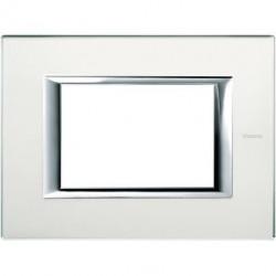 Rama Bticino HA4803VSA Axolute - Rama din sticla, rectangulara, 3 module, st. italian, mirror glass
