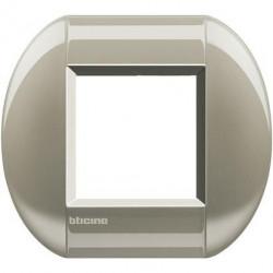 Rama Bticino LNB4802TC Living Light - Rama eliptica 2 module, rectangulara, din zamak, titan
