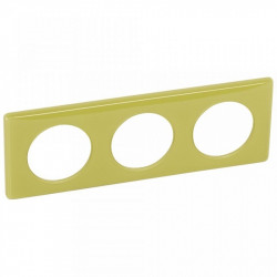 Rama Legrand 68823 Celiane - Rama 3 posturi, polimer, interax 71mm, bambus
