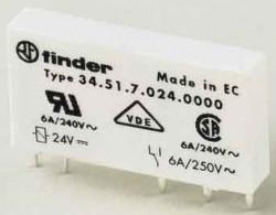 Releu Finder 345170240010 - RELEU ELECTROMECANIC, IMPLANTABIL, 24V, DC, 1C, 6A