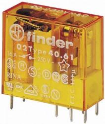 Releu Finder 406190240000 - RELEU , BOBINA ST. (650MW), 24V, DC, 1C, 16A, AGCDO