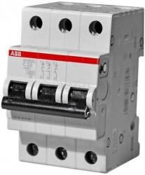 Siguranta automata ABB 2CDS243001R0254 - DISJUNCTOR SH203L- MINICIRCUITBREAKER 3P, 25A, 4.5kA, C