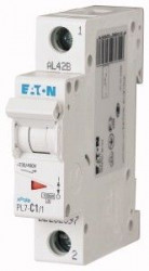 Siguranta automata Eaton 165052 - DISJUNCTOR PL7-B1/1 1P, 1A, 10kA, B