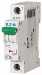 Siguranta automata Eaton 262701 - DISJUNCTOR PL7-C6/1 1P, 6A, 10kA, C