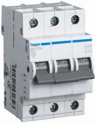 Siguranta automata Hager MC325A - DISJUNCTOR 3P, 25A, 6KA, C, 3M