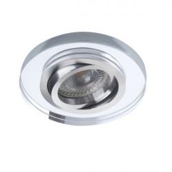 Spot Kanlux 26716 MORTA - Spot incastrat, directional GU10, 1x35W, IP20, argintiu