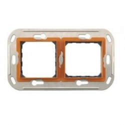 Suport Bticino H4732/2 Axolute - Suport 2+2 module, st german, din plastic, dist interax 57mm, cu surub
