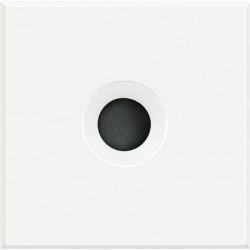 Tasta falsa Bticino HD4954 Axolute - Tasta falsa cu orificiu pentru cablu 9mm, 2 module, alb