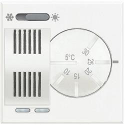 Termostat Bticino HD4442 Axolute - Termostat de ambianta cu inversor vara/iarna, 230V, 2 module, alb