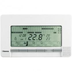 Termostat Bticino N4450 Living Light - Termostat de ambianta cu temporizator si montaj aplicat, alb