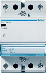 Contactor modular Hager ESC440 - CONTACTOR, 40A, 4ND, 230V