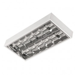 Corp de iluminat Kanlux 7890 Notus - Corp aplicat, T8, G13, 2x18W, 620x300, IP20, alb