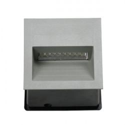 Corp iluminat Kanlux 4684 LICA LED-J04A - Aplica incastrata led, 1,5W, 4000k, IP65, argintiu