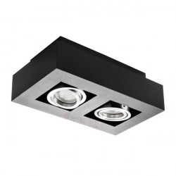 Corp iluminat Kanlux STOBI 26832 - Plafoniera led 2x25W, Gu10, IP20, negru/inox