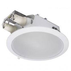 Corp iluminat Knalux 18330 SID DL - Corp iluminat incastrat, E27, 2xmax 26W, IP20, alb
