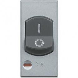 Disjunctor Bticino HC4301/16 Axolute - Disjuntor magneto-termic, 1P+N, 16A, 3KA, argintiu