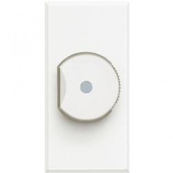 Intrerupator Bticino HD4402 Living Light - Variator, comanda rotativa, rezistiv/inductiv 60W-800W, 1M, 250V, alb