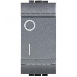 Intrerupator Bticino L4002N Living Light - Intrerupator bipolar, 2P, 16A - 250V, 1 modul, negru