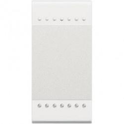 Intrerupator Bticino N4005N Living Light - Intrerupator cu revenire 16A - 250V, 1 modul, borne cu surub, alb