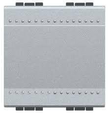Intrerupator Bticino NT4003M2N Living Light - Intrerupator cap scara 16A - 250V, 2 module, borne cu surub, argintiu