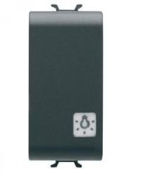 Intrerupator Gewiss GW12151 Chorus - Intrerupator cu revenire, indicator lumina 1M 1P NO 16A NEGRU