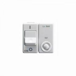 Intrerupator Gewiss GW20438 System - Intrerupator magneto-termic 1PN C10 IDN 10MA 230V 3KA Alb