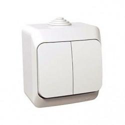Intrerupator Schneider Cedar WDE000551 - Intrerupator dublu cu indicator Lum. IP44, alb