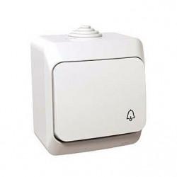 Intrerupator Schneider WDE000512 Cedar - Intrerupator cu revenire pentru sonerie IP44, alb