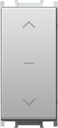 Intrerupator Tem SM41ESNT10-B Modul - Buton actionare storuri 1m argintiu