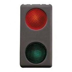 Lampa Gewiss GW21607 System - Lampsa semnalizare dubla cu led rosu-verde, negru