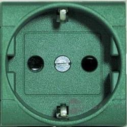 Priza Bticino L4141V Living Light - Priza standard german, 2P+T, 16A, 250V, 2M, verde