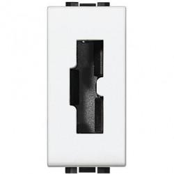 Priza Bticino N4115 Living Light - Priza de siguranta pentru stecher 2200NA sau 2200NN, standard italian , 2P+T, 10A, 1M, alb