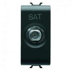 Priza SAT/TV Gewiss GW12371 Chorus - Priza SAT/TV de capat, atenuare 0dB, 1M, negru