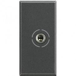 Priza Semnal Bticino HS4280 Axolute - Conector audio jack 3.5, 1M, negru