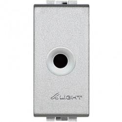 Priza semnal Bticino NT4391Living Light - Conector audio, Jack 2 contacte, 10A 48V, 1M argintiu
