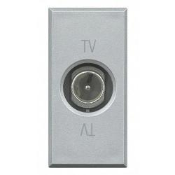 Priza TV/SAT Bticino HC4202P Axolute - Priza TV de trecere, atenuare 14dB, 1M, argintiu