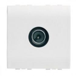 Priza TV/SAT Bticino N4202D/2 Living Light - Priza TV de capat. 2M, alb