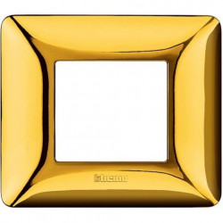 Rama Bticino AM4802GOR Matix - Rama 2 module auriu lucios
